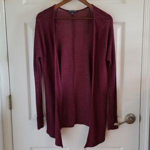 American Eagle Burgundy Knit Cardigan Sz M